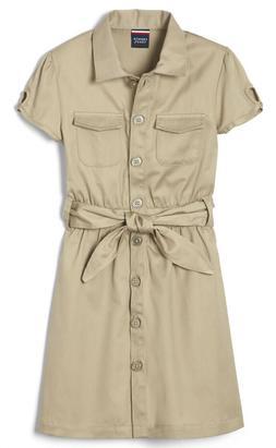 NEW French Toast Girls School Uniform Safari Dress Button Up