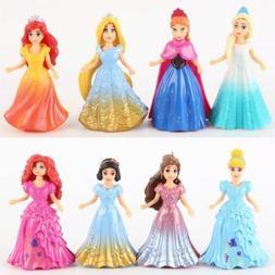 new hot 8pcs set princess doll