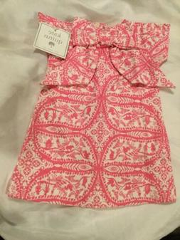 New Infant Baby Girls Organic Cotton Pink Kate Quinn Dress S