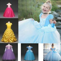 New Kids Disney Princess Costume Girls Cosplay Party Hallowe