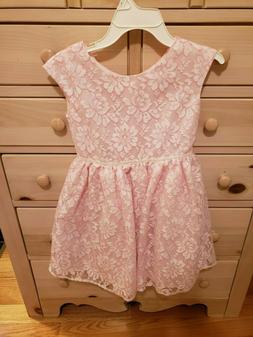 NEW Cherokee Pink and White Girl's Size 7/8 Medium Lace Dres