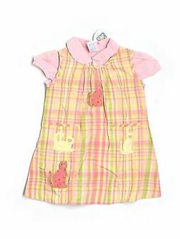New Toddler Girl April Cornell Kitty Cat Plaid Summer Dress