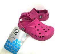 NEW! Crocs Toddler Girl's Baya Kids Clogs Pink Size:10/11 #1