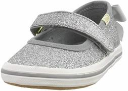 NEW Keds x kate spade Girls Sloane MJ Silver Glitter Sneaker