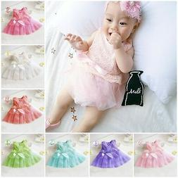 Newborn Baby Girls Children Toddler Party Princess Lace Page