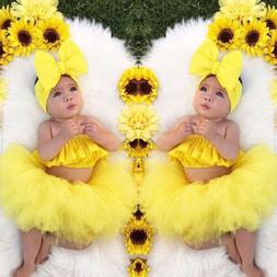 newborn kid baby girl clothes ruffle tube