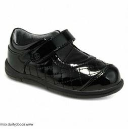 NIB STRIDE RITE Shoes Regan Black Quilt Patent Leather 8.5 W