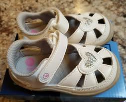 NIB Stride Rite Toddler Girls Size 6 White Louisa Sandals Sh
