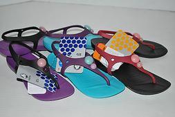 NWT CROCS ALIANA GIRLS kids jewel flip flops 9 10 11 12 13 B