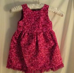 NWT Baby Girl Cat & Jack Sleeveless Pink multi Silky tulle t