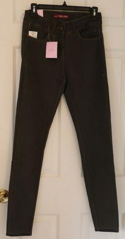 NWT - APRIL GIRL JEANS Dark Gray Skinny Pants -- Junior Size