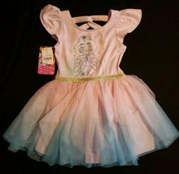 NWT Girl's Size 4T Dress/Bodysuit/Disney Princess Dress Up