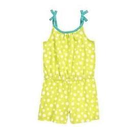 NWT Gymboree Girls Desert Dreams Lime Green Polka Dot Romper