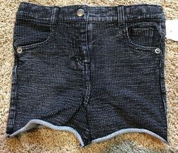 NWT Girls Washed Black Afton Street Shorts 4T