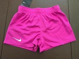 NWT Nike Girls Youth Mesh Althletic Shorts Size 6 Hyper Mage