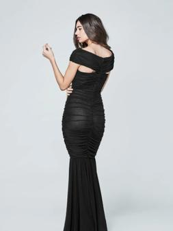nwt MARCIANO guess carolina mesh ruched ball gown maxi dress