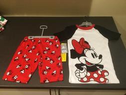 NWT Disney Minnie Mouse Girls Size 8 Two Piece Pajamas