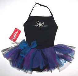 Nwt New Capezio Dance Diva Halter Leotard Dress Tutu Skirt B