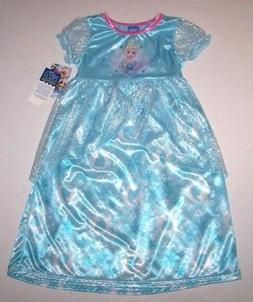 Nwt New Disney Frozen Princess Elsa Nightgown Pajamas Costum