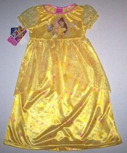 Nwt New Disney Princess Belle Beauty Beast Nightgown Pajamas
