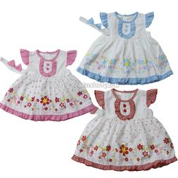 NWT newborn infant baby girl dress 3 piece set clothing outf