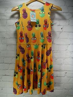 JXStar NWT's Party Pineapple Swing Dress Girls Size 10-11 Mo