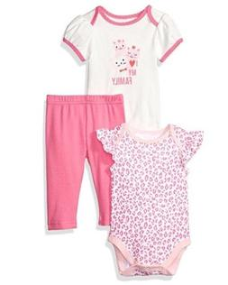 NWT The Children's Place Baby Girl 3-piece Playwear Set Size