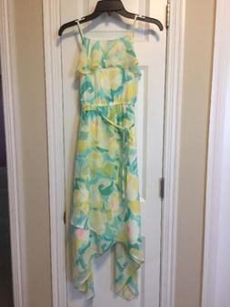 NWT The Children's Place Girls' Green & Yellow Maxi Dress Si