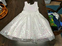 NWT The Children's Place White Pink Sequin Dress Size Girl's