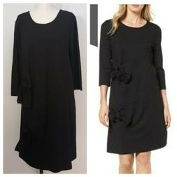 HALOGEN NWT tie detail black dress size XL