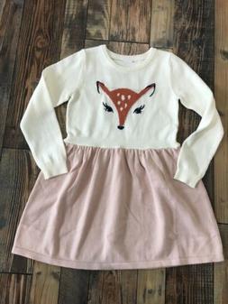 NWT Gymboree Woodland Weekend Girls Deer Sweater Dress Fall