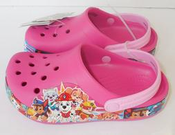 Crocs Paw Patrol Band Clog Girls C12 12 Kids Pink Shoes New