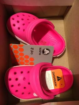 PINK CROCS SHOES FOR GIRLS SIZE 4/5T NEW IN BOX