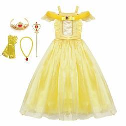 Princess Halloween Dress Up Cosplay Costume Little Girl Prom