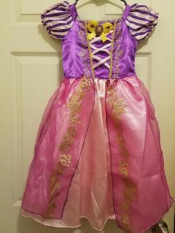 Princess Rapunzel Costume Party Long Gown Dress Up for Littl