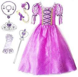 SweetNicole Princess Rapunzel Purple Princess Party Costume
