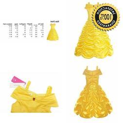 Relibeauty Little Girls Layered Princess Belle Costume Dress
