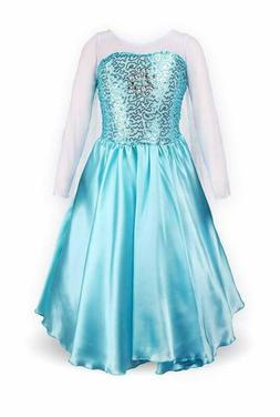 Relibeauty Little Girls Princess Fancy Dress Elsa Costume