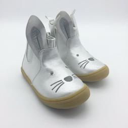 Silver Bunny Ankle Boots Toddler Girls Cat & Jack Estella Ne