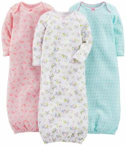 Simple Joys by Carter's Baby Girls' 3-Pack Cotton Sleeper Go