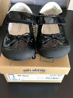 STRIDE RITE  SM Jane baby girl 040W WIDE dress shoes New Wit
