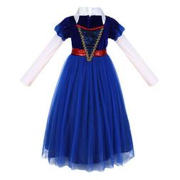 Snow White Princess Costume Long Tutu Gown for Girls Kids Ca