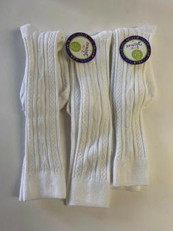 Jefferies Socks Big Girls' Cable-Knit Knee-High Sock Three-P