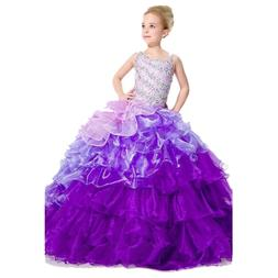 Stock Size4/8/10/12 Flower Girl Dress Formal Gowns Pageant B