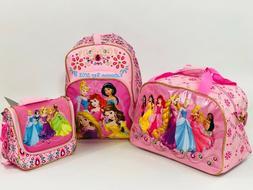 Disney Store Princess Backpack Bookbag Lunchbox Girls New Ja