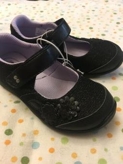 Surprize by Stride Rite Toddler Girls Black Mary Janes Shoes