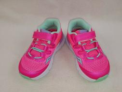 """Saucony """"SY-B Baby Freedom ISO"""" Girls Toddler Sneakers, Pink"""