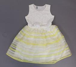 The Children's Place Girl's Sleeveless Striped Dress KB8 Yel