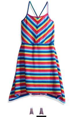 The Children's Place Girls' Big Sleeveless Summer Dress, Spa