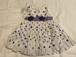 THE CHILDREN'S PLACE PURPLE & WHITE INFANT DRESS ~ SIZE 0-3
